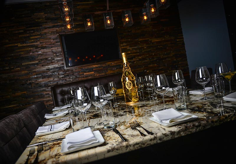 dining table at Bourbon & Bones in Old Town Scottsdale