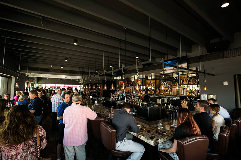 Happy Hour Scottsdale Restaurant Interior people having a good time